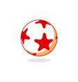 star ball logo vector image vector image