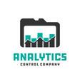 statistical data card logo vector image
