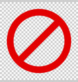 stop sign icon in flat style danger symbol on vector image vector image