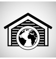 storage building global world delivery vector image
