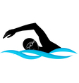 swimmer athlete vector image vector image
