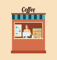 take away food coffee and hygiene flat vector image vector image