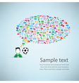 Template design player idea with soccer icon vector image vector image