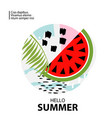 trendy tropic and watermelon background vector image