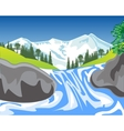 Waterfall in mountain vector image vector image