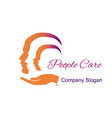 people care design element vector image