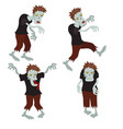 set of zombies set of zombies vector image