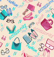 woman accessories bags shoes and glasses Fashion vector image