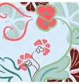 Floral background abstract vector image