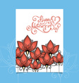 Happy Motherss Day Greering Card with Flowers vector image