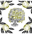 olive tree in a frame vector image