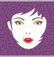 young fashion woman face portrait with make up vector image