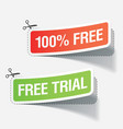 100 percent free labels vector image vector image