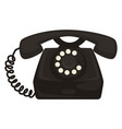 40s retro telephone with dial and receiver vector image