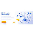5g network - banner layout template for website vector image vector image