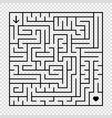 a square labyrinth with a black stroke an vector image vector image