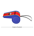 A Whistle of The Kingdom of Swaziland vector image