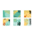 abstract collage artboards set background vector image vector image