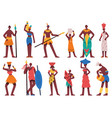 african people male and female characters vector image