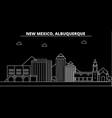 albuquerque silhouette skyline usa - albuquerque vector image vector image