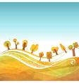 Autumn geometric background vector image vector image