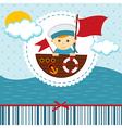 baby boy sailor vector image vector image