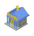 bank building isometric isolated financial vector image vector image