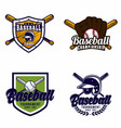 baseball logo badge vector image vector image