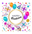 birthday greeting card banner with space for text vector image vector image