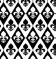 Black and white alternating Fleur-de-lis on vector image