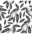 black and white olive pattern vector image vector image