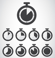 Black stopwatch icon vector image