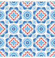 blue flower pattern boho ornament vector image vector image