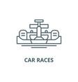 car races line icon car races outline vector image vector image