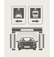 car wash set icons vector image
