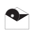 cd in envelope icon vector image