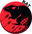 Chinese Horoscope rat vector image