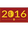Chinese New Year 2016 Year of the Monkey vector image