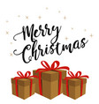 christmas banner with gift boxes vector image