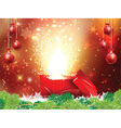 Christmas gift backgroound vector image vector image