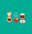 coffee dripper filter pour over maker image red vector image vector image