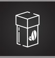 coffee outline icon on black background for vector image vector image