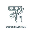 color selection line icon color selection vector image vector image