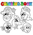 coloring book with pirate topic 5 vector image vector image