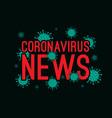 coronavirus news abstract covid-19 novel vector image