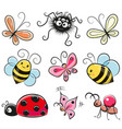 cute cartoon insects vector image vector image