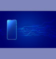 digital mobile smartphone technology background vector image vector image