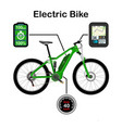 electric bike isolated on vector image vector image