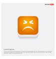 emoji icon orange abstract web button vector image