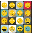 Emoticon icons set flat style vector image